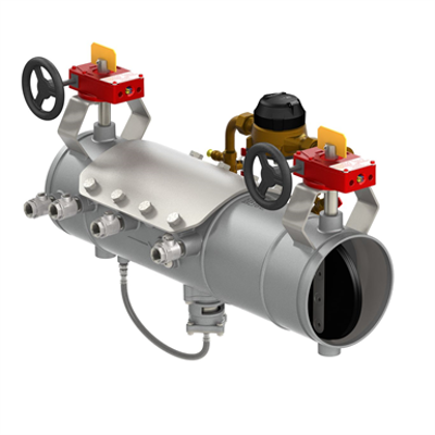 รูปภาพสำหรับ Lightweight Stainless Steel Reduced Pressure Detector Type II Assemblies with Integral Butterfly or OSY Shutoffs - Deringer 50/50G