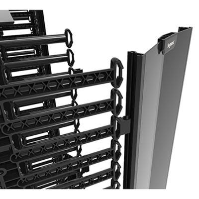 """Image for Q-Series Vertical Manager, 8' H X 4"""" Wide, Double Sided"""