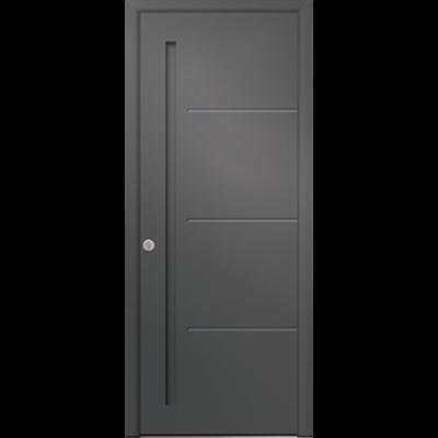 Image for  Porte d'entrée en aluminium Passage – Modèle Graphite B