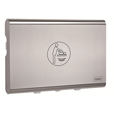 Image for Horizontal baby changing station BabyMedi stainless steel