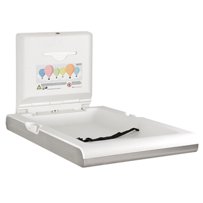 Image for Vertical baby changing station BabyMedi stainless steel