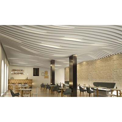 billede til LMD-L LAOLA | Metal Baffle Ceiling in wavelike design