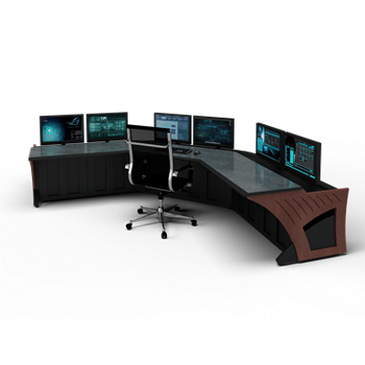 """Image for Prestige Sight-Line Consoles - 48"""" stations, 45°"""