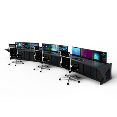 """Image for Prestige Sight-Line Consoles - 72"""" stations, 15°"""
