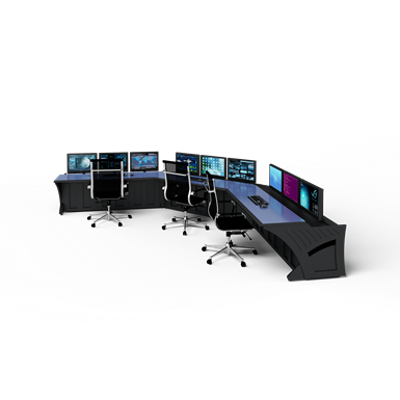 """Image for Prestige Sight-Line Consoles - 72"""" stations, 45°"""