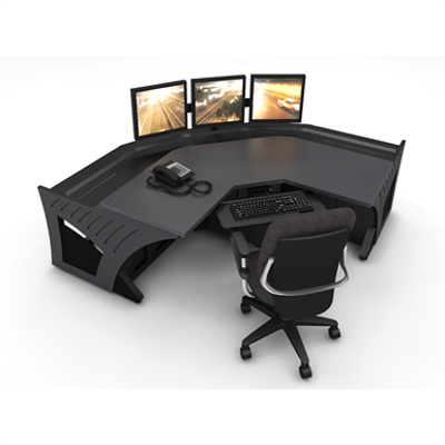 """Image for Prestige Sight-Line Consoles - 24"""" stations, 45°"""