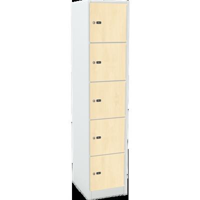 billede til 5-Compartment Locker Laminate Door W:300 D:500 H:1850