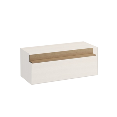 Image for BOUTIQUE 90mm L-Shaped shelf for 900mm element with pre-drilled holes for optional power socket