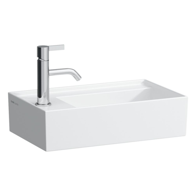 Image for KARTELL BY LAUFEN Small washbasin, tap bank left, with concealed outlet