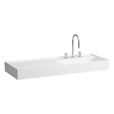 Image for KARTELL BY LAUFEN Washbasin, shelf left, with concealed outlet