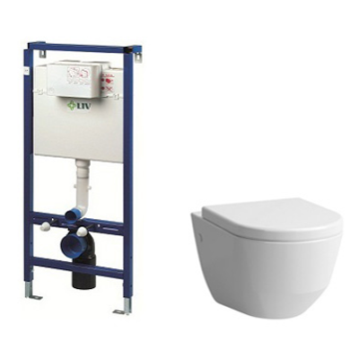 Image for PRO GUEST WALLHUNG TOILET SOFT SEAT COVER INCL. FLUSHING SYSTEM