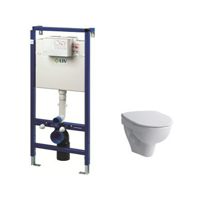 Image for PRO-N WALLHUNG TOILET SOFT SEAT COVER INCL. FLUSHING SYSTEM