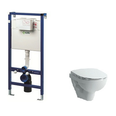 Image for PRO-N WALLHUNG TOILET HARD SEAT COVER INCL. FLUSHING SYSTEM