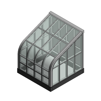 Image for Curved Eave Lean To Skylight Model SI5006