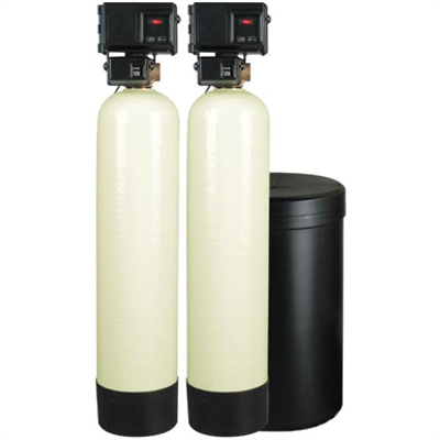 Image for Meter Demand Duplex Alternating Water Softeners for Hardness Reduction - PWS20-2