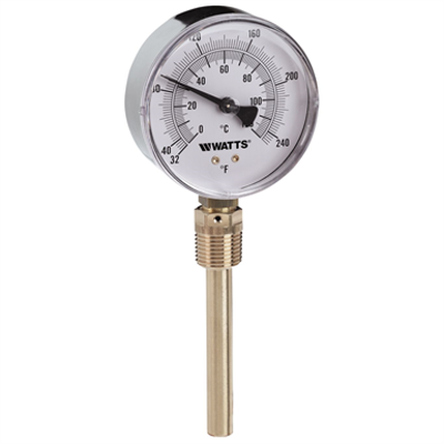 Image for Lead Free* Bottom-Entry Bimetal Thermometer - LFTBR