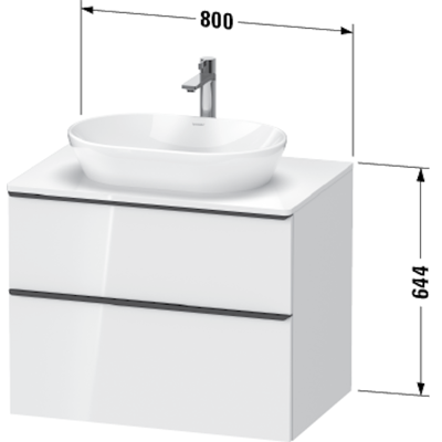 Image for DE4967 D-Neo Vanity unit wall-mounted