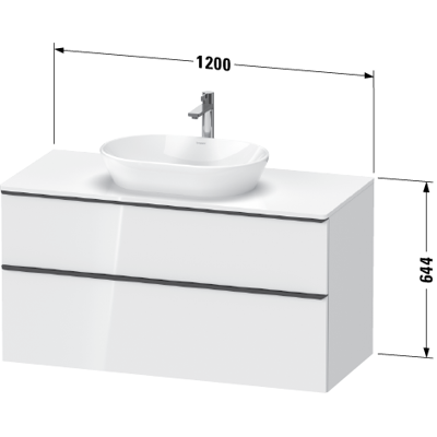 Image for DE4969 D-Neo Vanity unit wall-mounted