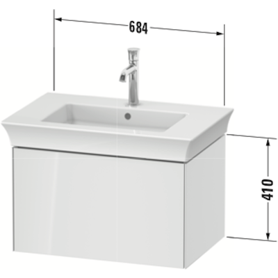 Image for WT4241 Vanity-unit-wall-mounted