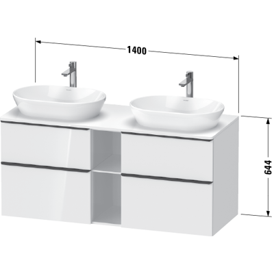 Image for DE4970 D-Neo Vanity unit wall-mounted