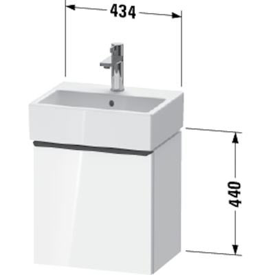 Image for DE4217 D-Neo Vanity unit wall-mounted