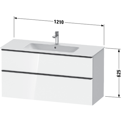 Image for DE4364 D-Neo Vanity unit wall-mounted