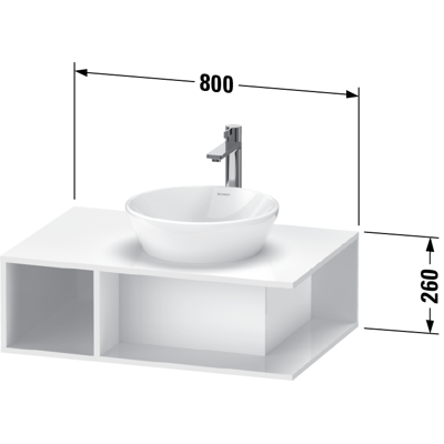 Image for DE4958 D-Neo Vanity unit wall-mounted