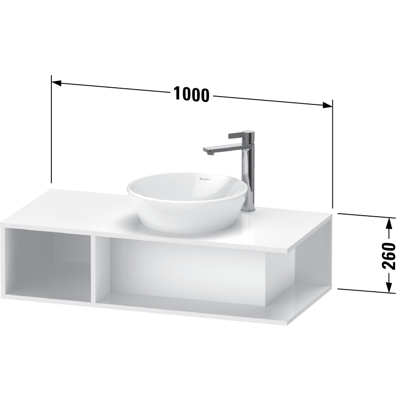 Image for DE4939 D-Neo Vanity unit wall-mounted