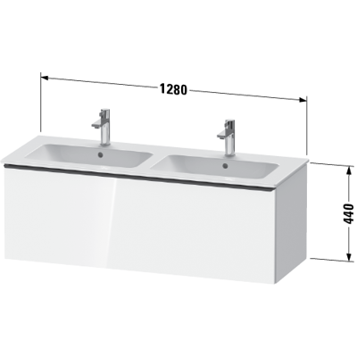 Image for DE4265 D-Neo Vanity unit wall-mounted