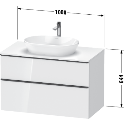 Image for DE4968 D-Neo Vanity unit wall-mounted