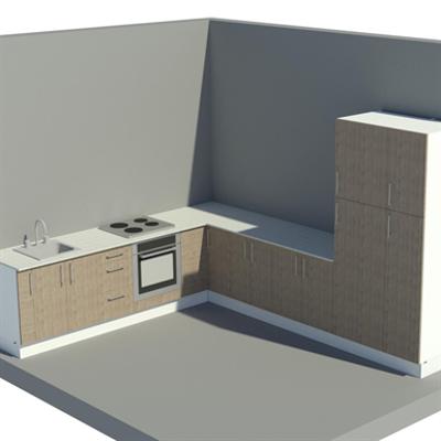 изображение для Pro L-shaped kitchen showcase