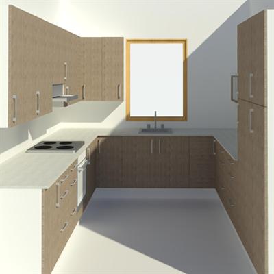изображение для Pro U-shaped kitchen showcase