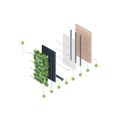 Image for ANS Exterior Living Green Wall System