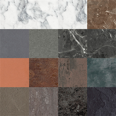 Image for RESOPAL COLLECTION stones and materials 1 - High Pressure Laminate (HPL) and Compact Laminate