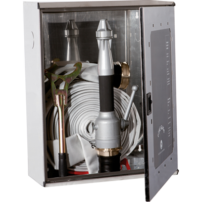 """Image for 2/MX FIRE HOSE SYSTEM FOR FIRE SERVICE USE DN 70 - """"Electa"""" STAINLESS STEEL CABINET"""