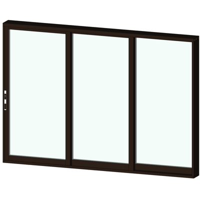 Image for AX550 Stacking Glass Walls 3 Panel