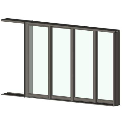 Image for AX550 Pocket Glass Walls 4 Panel