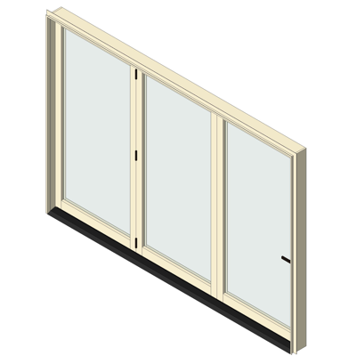 Image for AX550  Bifold Glass Walls 3 Panel