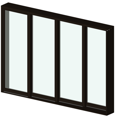 Image for AX550 Stacking Glass Walls 4 Panel