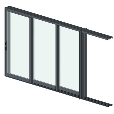 Image for AX550 Pocket Glass Walls 3 Panel