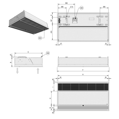 Image for SR Air Curtain - Water Heated- Cassette