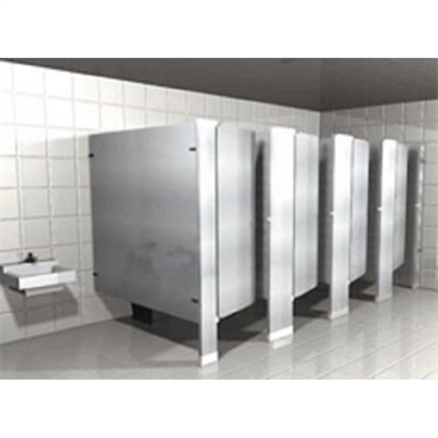 Stainless Steel Toilet Partitions Floor Mounted图像