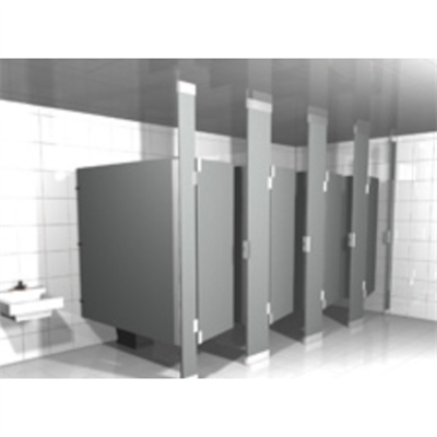 Solid Plastic Toilet Partitions Floor to Ceiling图像