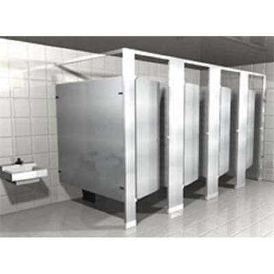 Powder Coated Toilet Partitions Headrail Braced图像