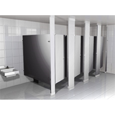 Stainless Steel Toilet Partitions Headrail Braced图像