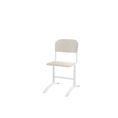 Image for Matte adjustable small seat white frame