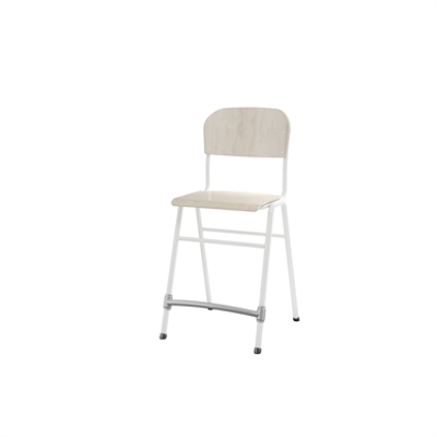 Image for Matte 54 cm small seat white frame