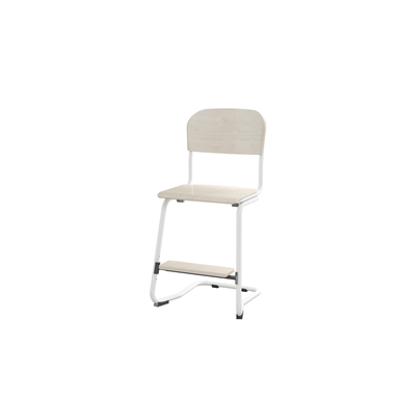 Image for Matte 50 cm small seat white frame
