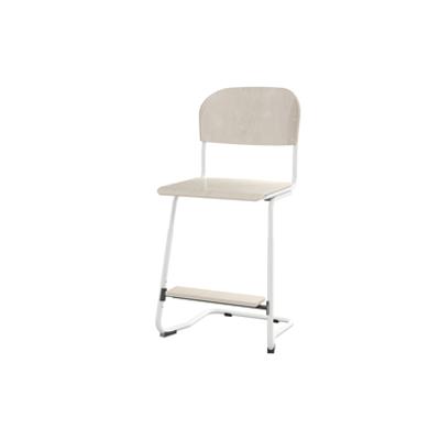 Image for Matte 57/63 cm big seat white frame