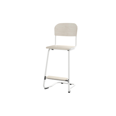 Image for Matte 63 cm small seat white frame